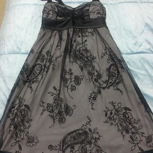 Dress black gray formal prom